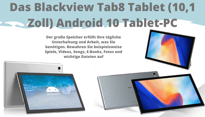 Das Blackview Tab8 Tablet 25,54cm (10,1 Zoll) Android 10 Tablet-PC